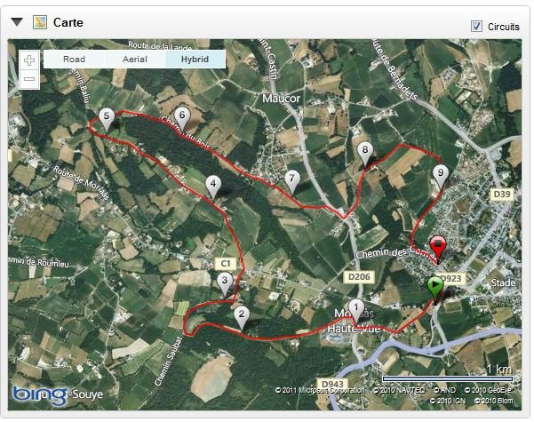 Morlaas parcours trail